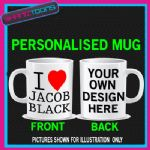 I LOVE HEART JACOB BLACK TWILIGHT NEW MOON MUG